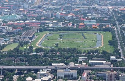 The Royal Turf Club from Baiyoke Tower II. Credit: Bcow